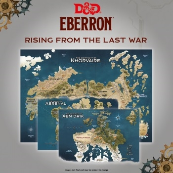 Dungeons & Dragons 5th - Rising From The Last War - Eberron - Map Set x3