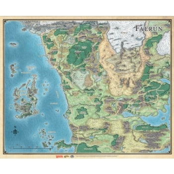 Dungeons & Dragons 5th - Sword Coast Adventurer's Guide Faerûn Map