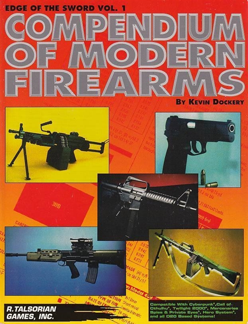 Edge of the Sword Vol 1 - Compendium of Modern Firearms (B-Grade) (Genbrug)