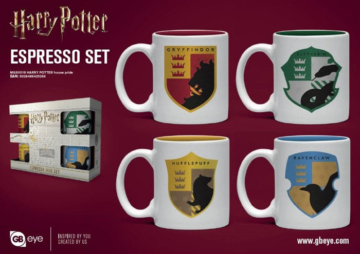 Espresso Mugs 4-Pack House Pride - Harry Potter