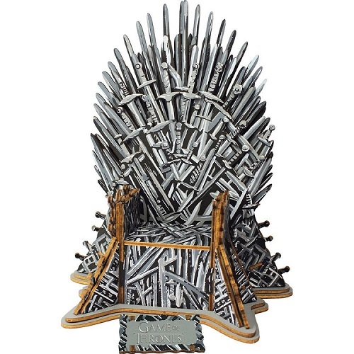 Game of Thrones 3D Puslespil - Iron Throne (56 brikker)