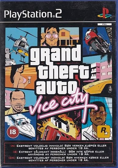 Grand Theft Auto Vice City - PS2 (Genbrug)