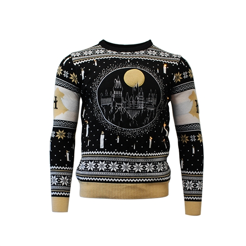 Harry Potter - Hogwarts med LED lys - Strik Julesweater