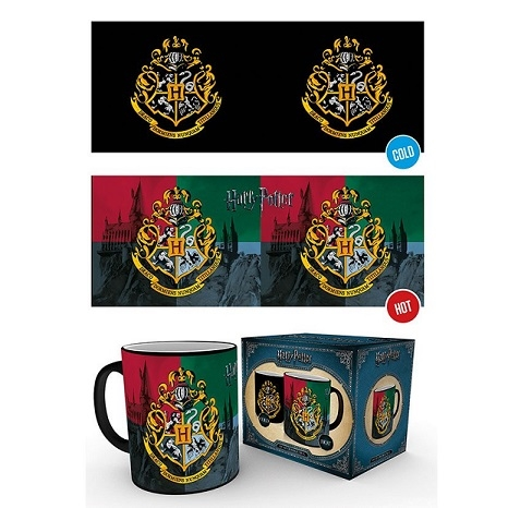 Harry Potter -  Mug Hogwarts Crest - Krus (Heat Change)
