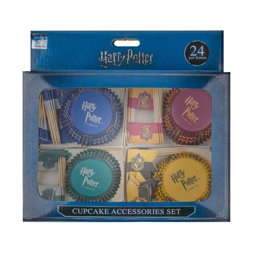 Harry Potter - Cupcake bageforme og flag (100 stk.)