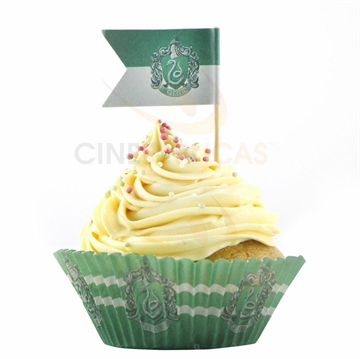 Harry Potter Slytherin - Cupcake bageforme og flag (20 stk.)