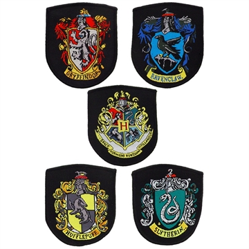 Harry Potter - House Crest Shields 5-Pack - Patches