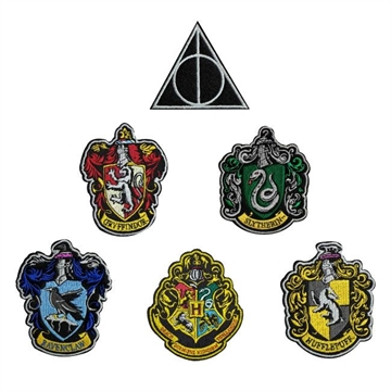 Harry Potter - House Crests 6 stk - Strygemærker