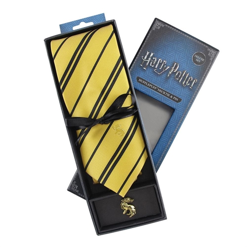 Harry Potter - Hufflepuff - Slips & Metal Pin Deluxe Boks
