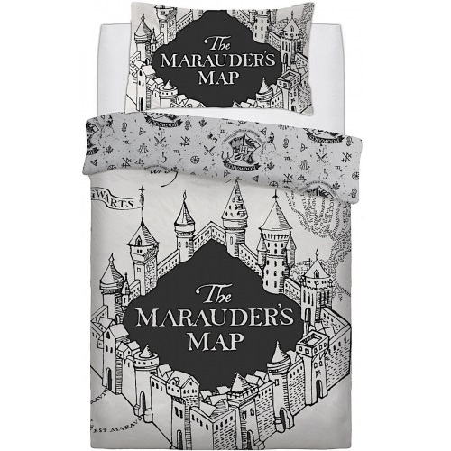Harry Potter Sengetøj - Reversible Marauders Map