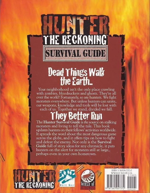 Hunter the Reckoning - Survival Guide (Genbrug)