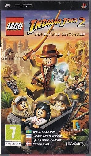 LEGO Indiana Jones 2 The Adventure Continues - PSP Spil (Genbrug)