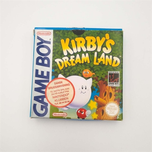 Kirbys Dream Land - GameBoy Original (B Grade) (Genbrug)