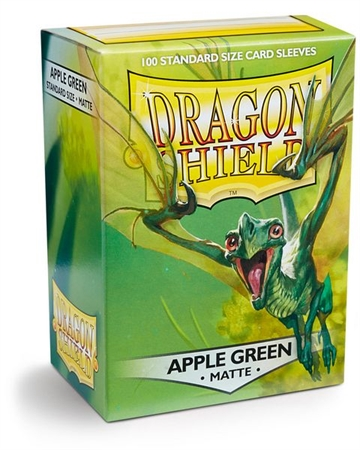 Kort tilbehør - Dragon Shield - Matte Apple Green - Plastiklommer (100 standard sleeves)