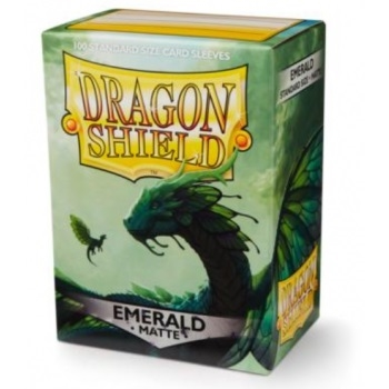 Kort tilbehør - Dragon Shield - Matte Emerald - Plastiklommer (100 standard sleeves)