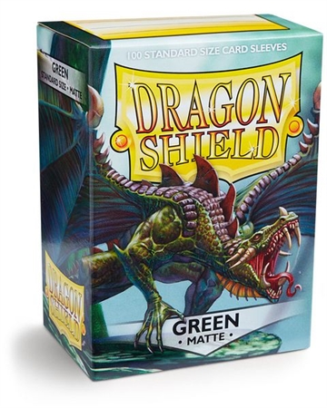 Kort tilbehør - Dragon Shield - Matte Green - Plastiklommer (100 standard sleeves)