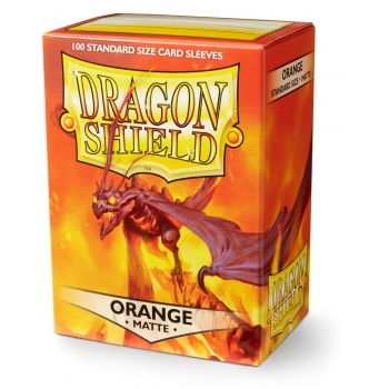 Kort tilbehør - Dragon Shield - Matte Orange- Plastiklommer (100 standard sleeves)