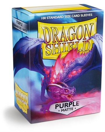 Kort tilbehør - Dragon Shield - Matte Purple - Plastiklommer (100 Standard Sleeves)