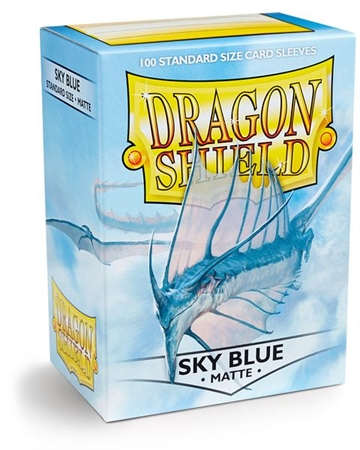 Kort tilbehør - Dragon Shield - Matte Sky Blue - Plastiklommer (100 standard Sleeves)