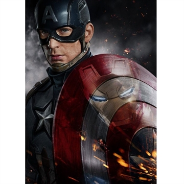 Marvel Comics -  Captain America - 32 x 45 cm Metal Skilt