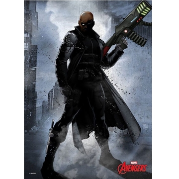 Marvel Comics Dark Nick Fury - 32 x 45 cm Metal Skilt