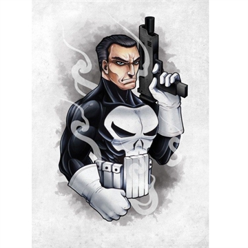 Marvels Defenders The Punisher - 32 x 45 cm Metal Skilt
