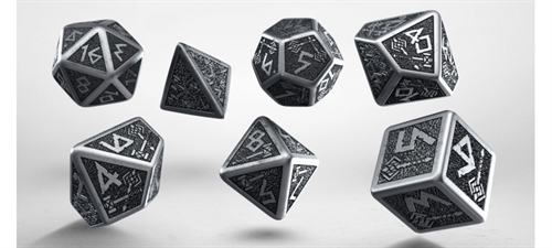 Metal Dwarven Dice Set - rollespils Metal terning sæt - Q-Workshop
