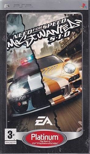 Need For Speed Most Wanted 5-1-0 Platinum - PSP Spil (Genbrug)