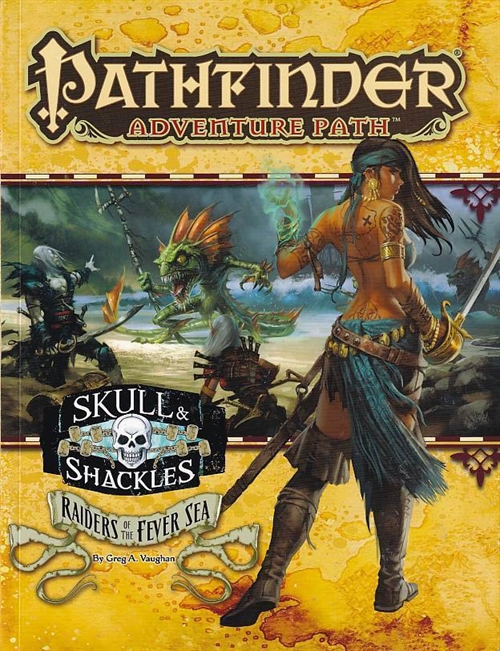 Patfinder Adventures Path Skull & Shackles Raiders of the Fever Sea (Genbrug)