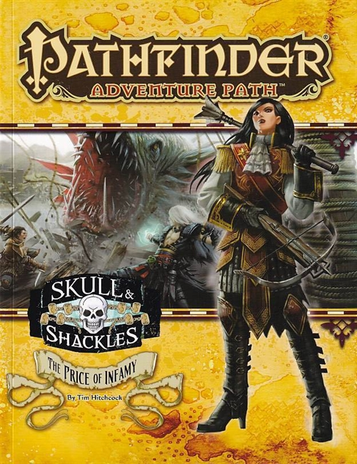 Pathfinder adventure path 59 - Skull & Shackles 5 of 6- The Price of Infamy (A Grade) (Genbrug)