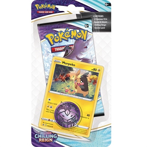 Pokemon Chilling Reign - Checklane Blister Morpeko - Pokemon kort