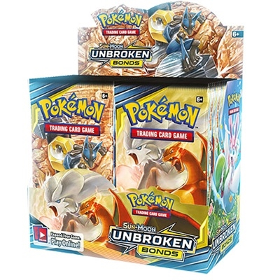 Pokemon Sun and moon 10 - Unbroken Bonds - Booster Box Display (36 Booster pakker) - Pokemon kort