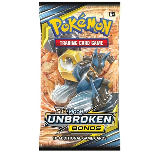 Pokemon Sun and moon 10 - Unbroken Bonds - Booster pakke