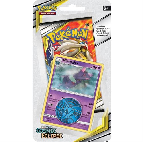 Pokemon Sun and moon 12 - Cosmic Eclipse - Checklane Blister Mismagius - Pokemon kort
