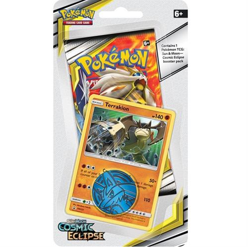 Pokemon Sun and moon 12 - Cosmic Eclipse - Checklane Blister Terrakion - Pokemon kort