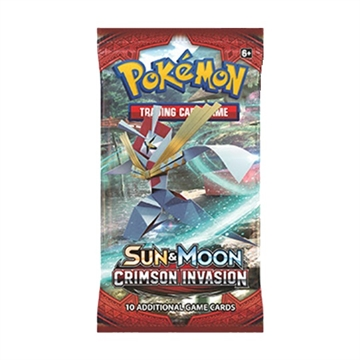 Pokemon Sun and moon 4 - Crimson Invasion - Booster pakker - Pokemon kort