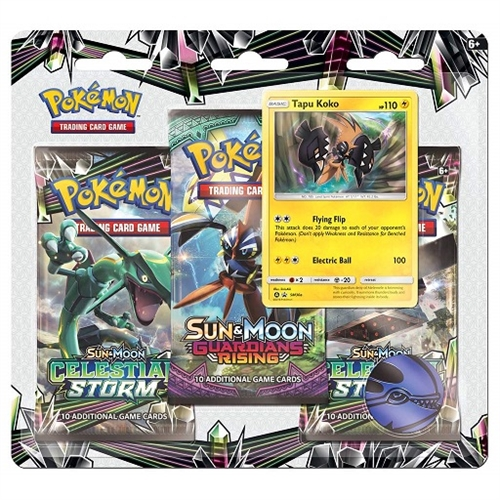 Pokemon Sun and moon 7 - Celestial Storm - 3 pack Blister - Tapu Koko