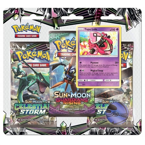 Pokemon Sun and moon 7 - Celestial Storm - 3 pack Blister - Tapu Lele