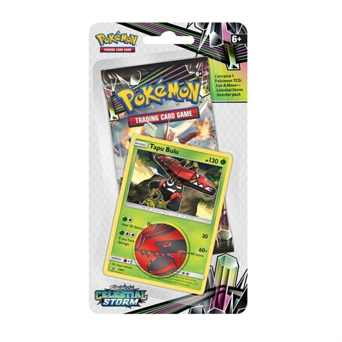 Pokemon Sun and moon 7 - Celestial Storm - Checklane Blister - Tapu Bulu