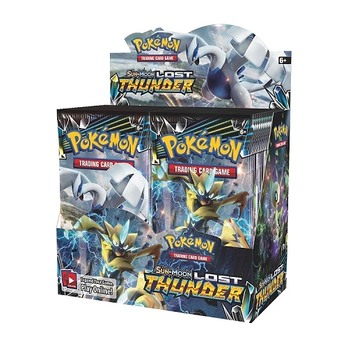 Pokemon Sun and moon 8 - Lost Thunder - Booster Box Display (36 Booster pakker) - Pokemon kort