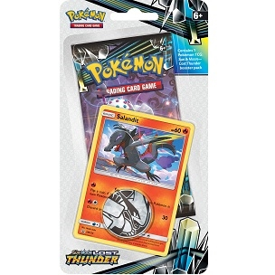 Pokemon Sun and moon 8 - Lost Thunder - Checklane Blister - Salandit - Pokemon kort