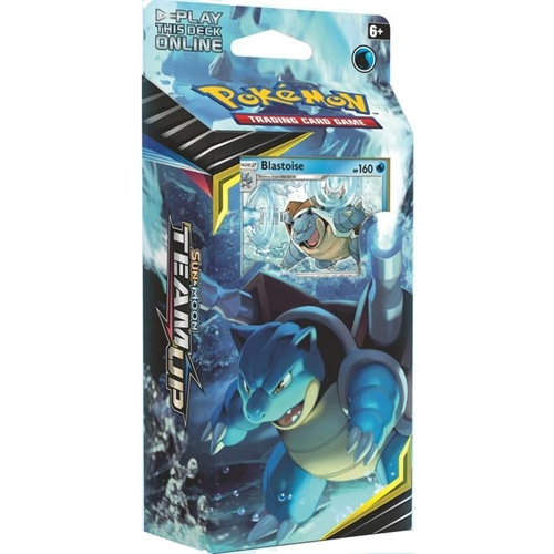 Pokemon Sun and moon 9 - Team Up - Theme Deck - Blastoise - Pokemon kort