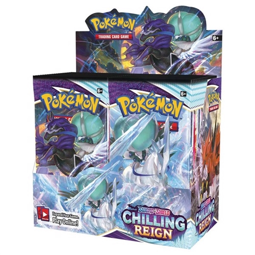 Pokemon Sword & Shield - Chilling Reign - Booster Box Display (36 Booster Pakker) - Pokemon kort