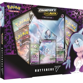 Pokemon kort - Champion's Path - Hatterene V Box