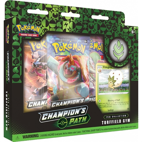 Pokemon kort - Champions Path - Pin Collection - Turffield Gym