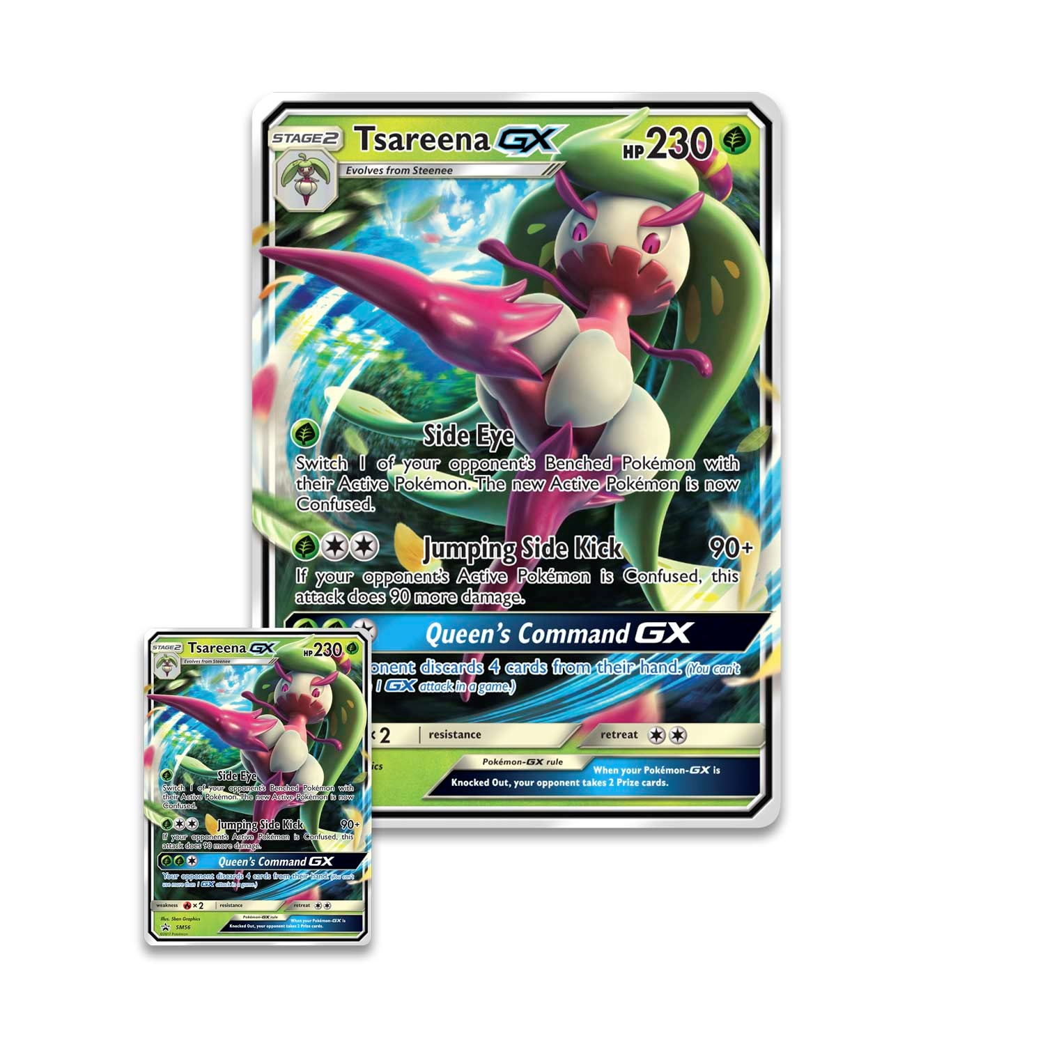 Pokemon Kort Tsareena Gx Box
