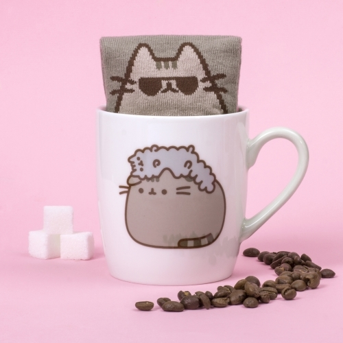 Pusheen - Sock in a Mug Pusheen and Stormy - Krus