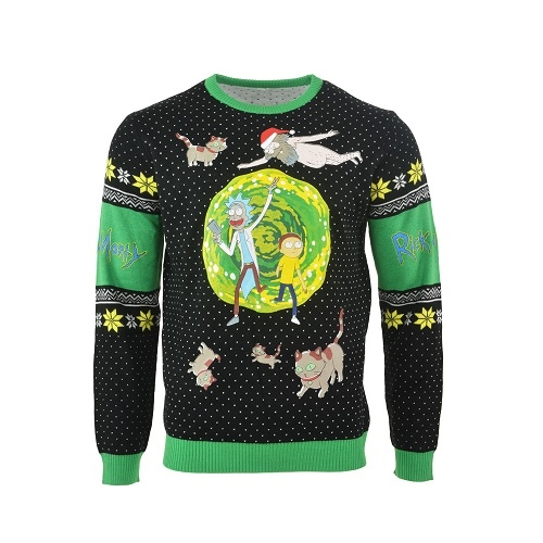 Rick and Morty - Portal Logo - Strik Julesweater