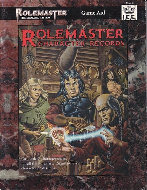 Rolemaster 3rd Ed - Character Records (Genbrug)