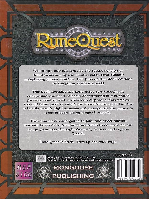 Rungequest - Mongoose Publishing RuneQuest (Genbrug)